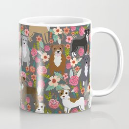 Pitbull mixed coat colors dog breed lover pibbles pitbulls florals gifts Coffee Mug