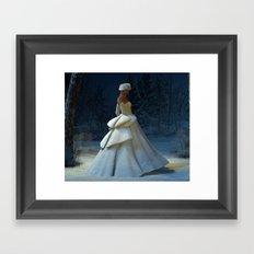 Snow Stride Framed Art Print