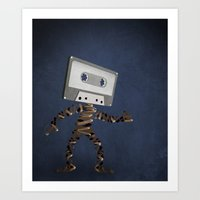 cassette Art Prints featuring Cassette by Phlauder