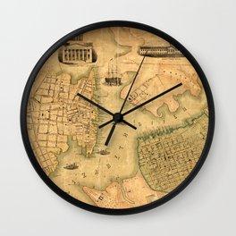 Map Of Norfolk 1851 Wall Clock