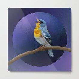 Nothern Parula bird illustration Metal Print