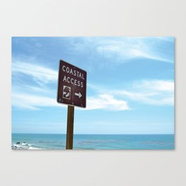 Coastal Access Canvas Print