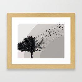 Forgotten tree Framed Art Print
