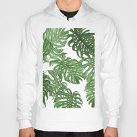 palms Hoodies featuring Monstera Deliciosa by Laura O'Connor