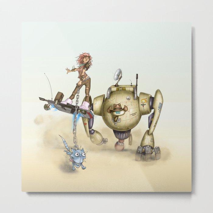 Cowbot 2000 & crew Metal Print
