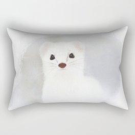 Stoat (Mustela erminea) Rectangular Pillow