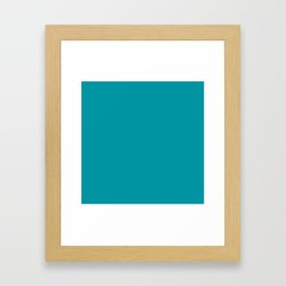 Turquoise Blue Teal   Solid Colour Framed Art Print
