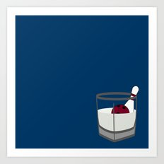 Hey, careful, man, there's a beverage here!  Art Print