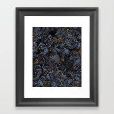 Fit In (moonlit blue) Framed Art Print