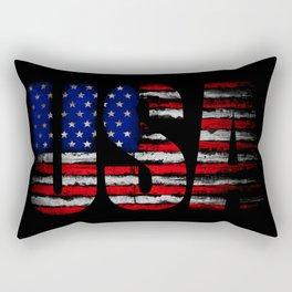 Distressed USA Flag Rectangular Pillow