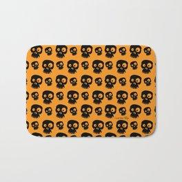 Skulls - orange/black Bath Mat