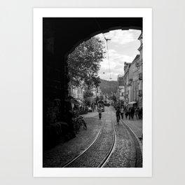 Streets of Freiburg Art Print
