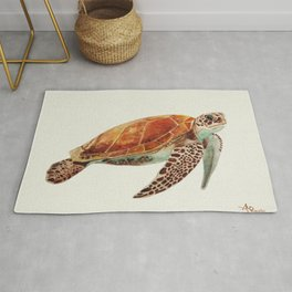 Turtle Watercolor Rug