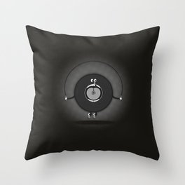 old skipping record Throw Pillow