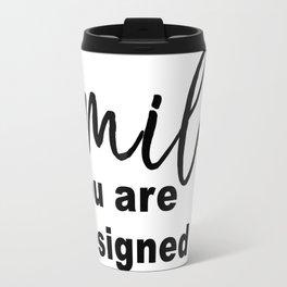 Designed to Smile Travel Mug