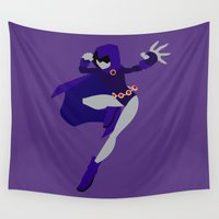 raven Wall Tapestries featuring Raven by karla estrada