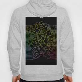 rainbow illustration - sound wave graphic Hoody