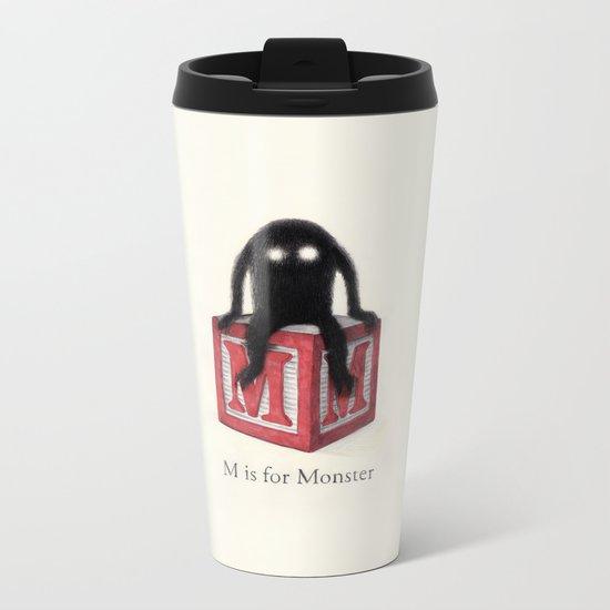 M is for Monster Metal Travel Mug