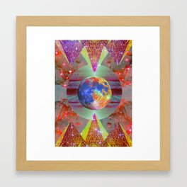 ☪elestial Pyramids Framed Art Print