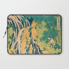 Pilgrims at Kirifuri Waterfall on Mount Kurokami in Shimotsuke Province Laptop Sleeve
