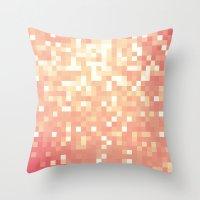 peach Throw Pillows featuring Peach by WhimsyRomance&Fun