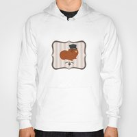 guinea pig Hoodies featuring Mr Guinea Pig by Jo Sharp