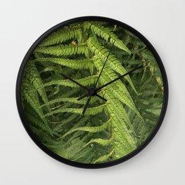 Fern fronds Wall Clock