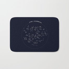 Winter Constellation Bath Mat