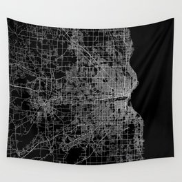 milwaukee map Wall Tapestry