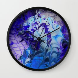 Hidden Face in the Blue Wall Clock