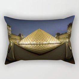 Pyramide du Louvre // Louvre Pyramid Rectangular Pillow