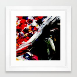 Lily pads aflame Framed Art Print