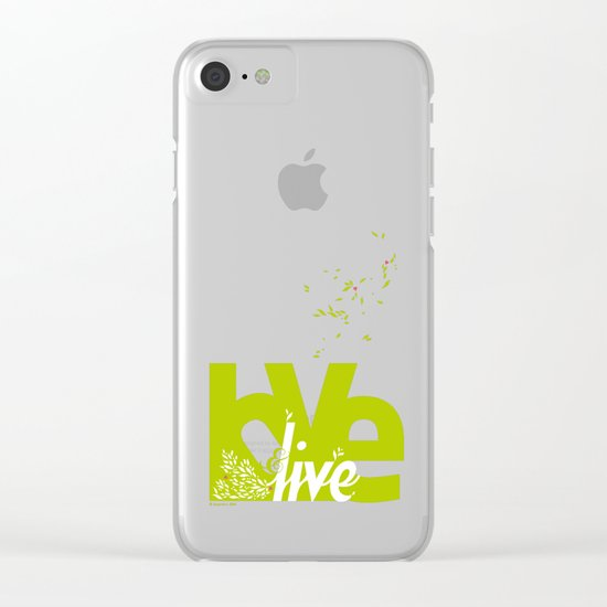 Love & Live (leaves 2) Clear iPhone Case