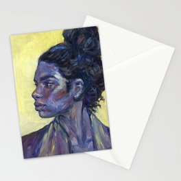Oil painting - Girl Portrait #1 Stationery Cards