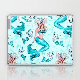 Pinup Mermaid with Merkittens Laptop & iPad Skin
