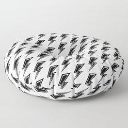 Lightning - Black and White Floor Pillow