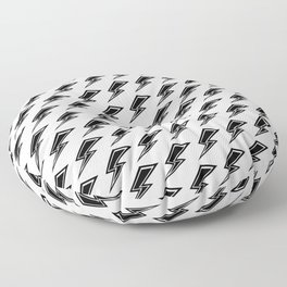 Lightning - Black and White Floor Pillow