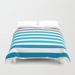 Stripes Gradient - Blue Duvet Cover