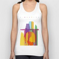 singapore Tank Tops featuring Shapes of Singapore. by Glen Gould