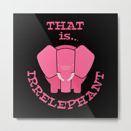 irrelephant elepants Metal Print