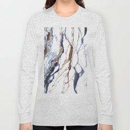 Abstract marble print Long Sleeve T-shirt
