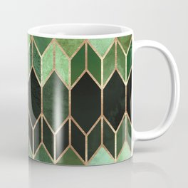 Stained Glass 5 - Forest Green Kaffeebecher