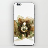 erykah badu iPhone & iPod Skins featuring Erykah Badu by Allison Kunath