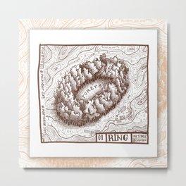 01 RING Maptober2019 Metal Print