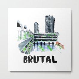 Brutal Barbican View Metal Print