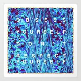 """OBSESS YOURSELF """"TRILL"""" GLITTER Art Print"""