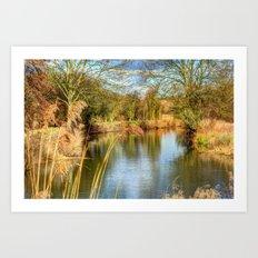 Down the river Art Print