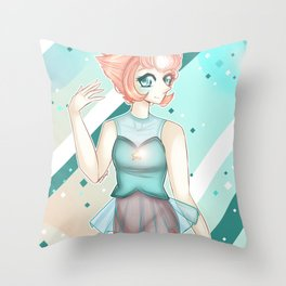 + Pretty Pearl + Throw Pillow