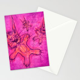 Record Cover for some Jazzed Rabbits, Violetish. Stationery Cards