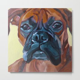 The Boxer Dog Lillibean Metal Print